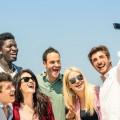 Millennials taking a selfie.
