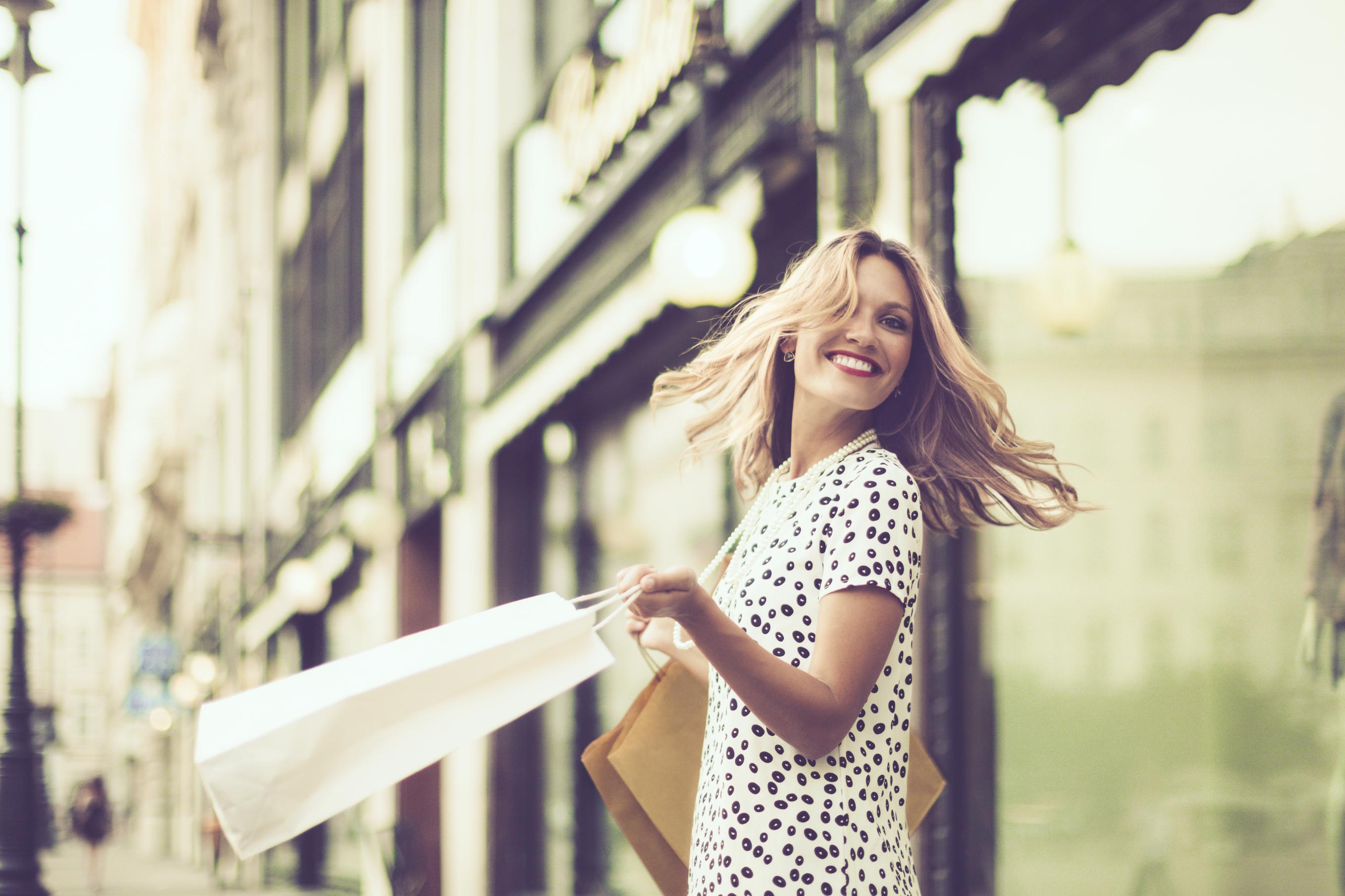 Image: iStock - Happy shopper.