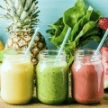 Image: iStock - Freshly blended fruit smoothies