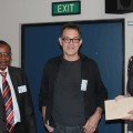 Image: From left: CEO Obert Chakarisa, Prof Iain Low, Executive Manager Marketing and Communication, Debbie Kirk