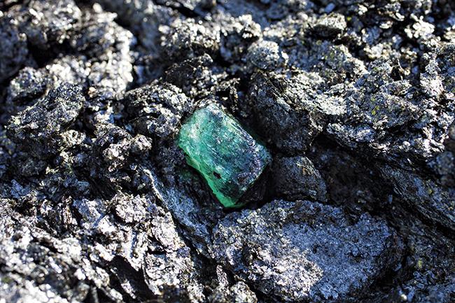 Image: Emeralds from Kagem mine