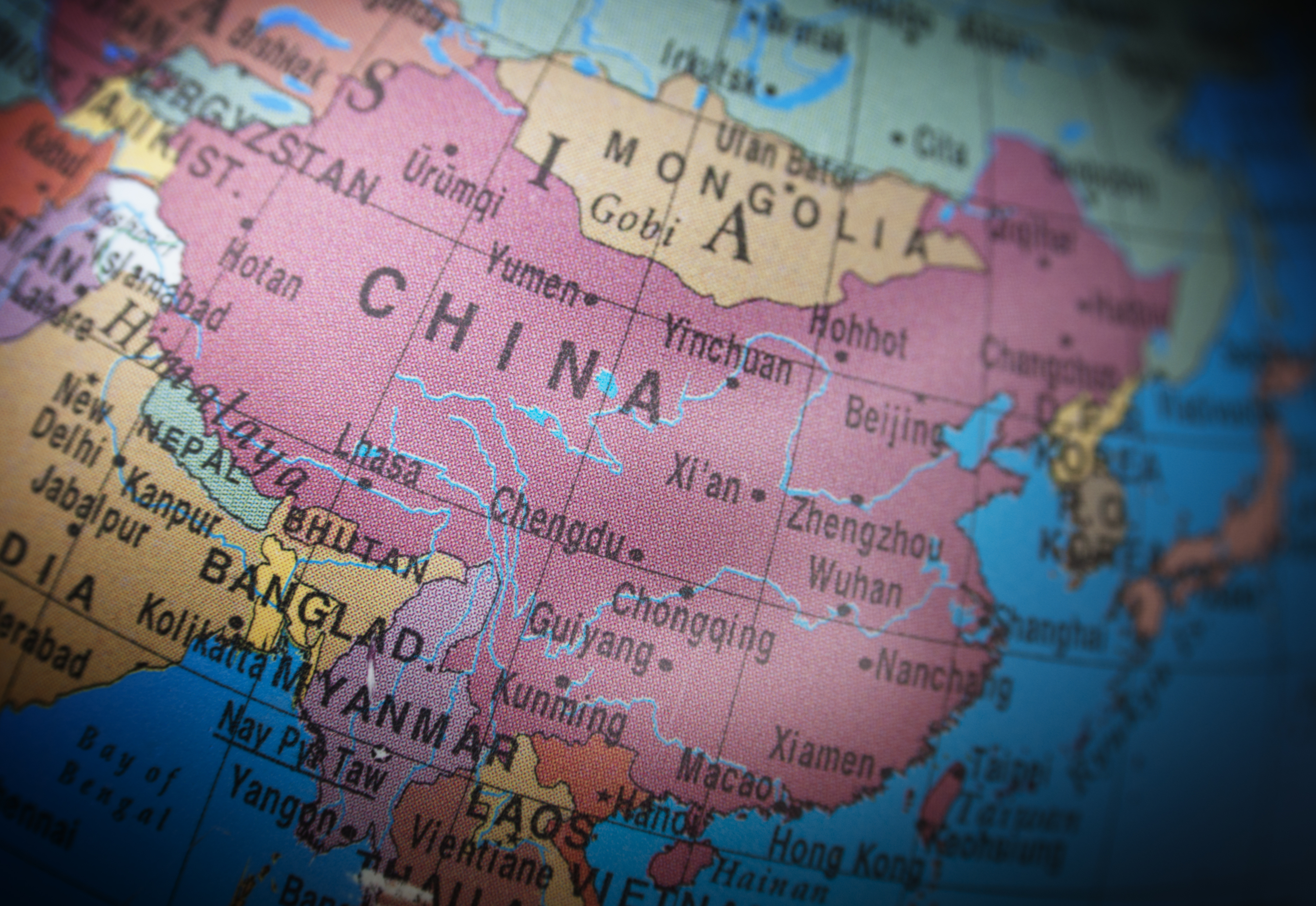 Image: iStock© - Topographical view of China