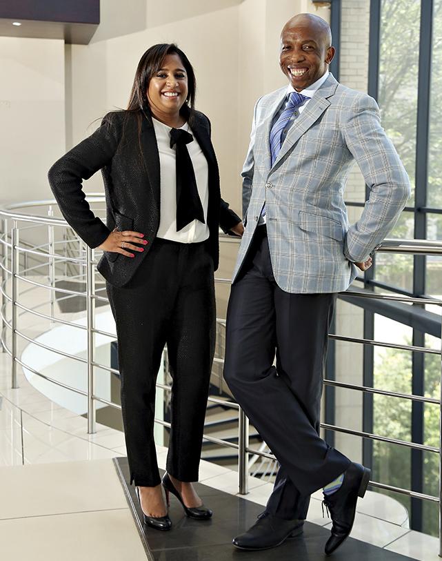 Image: ENSafrica's Lydia Shadrach-Razzino and Otsile Matlou