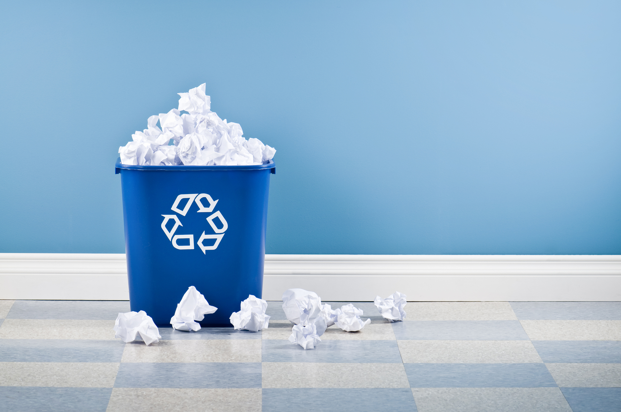 Image: iStock© - Recycling container full of paper