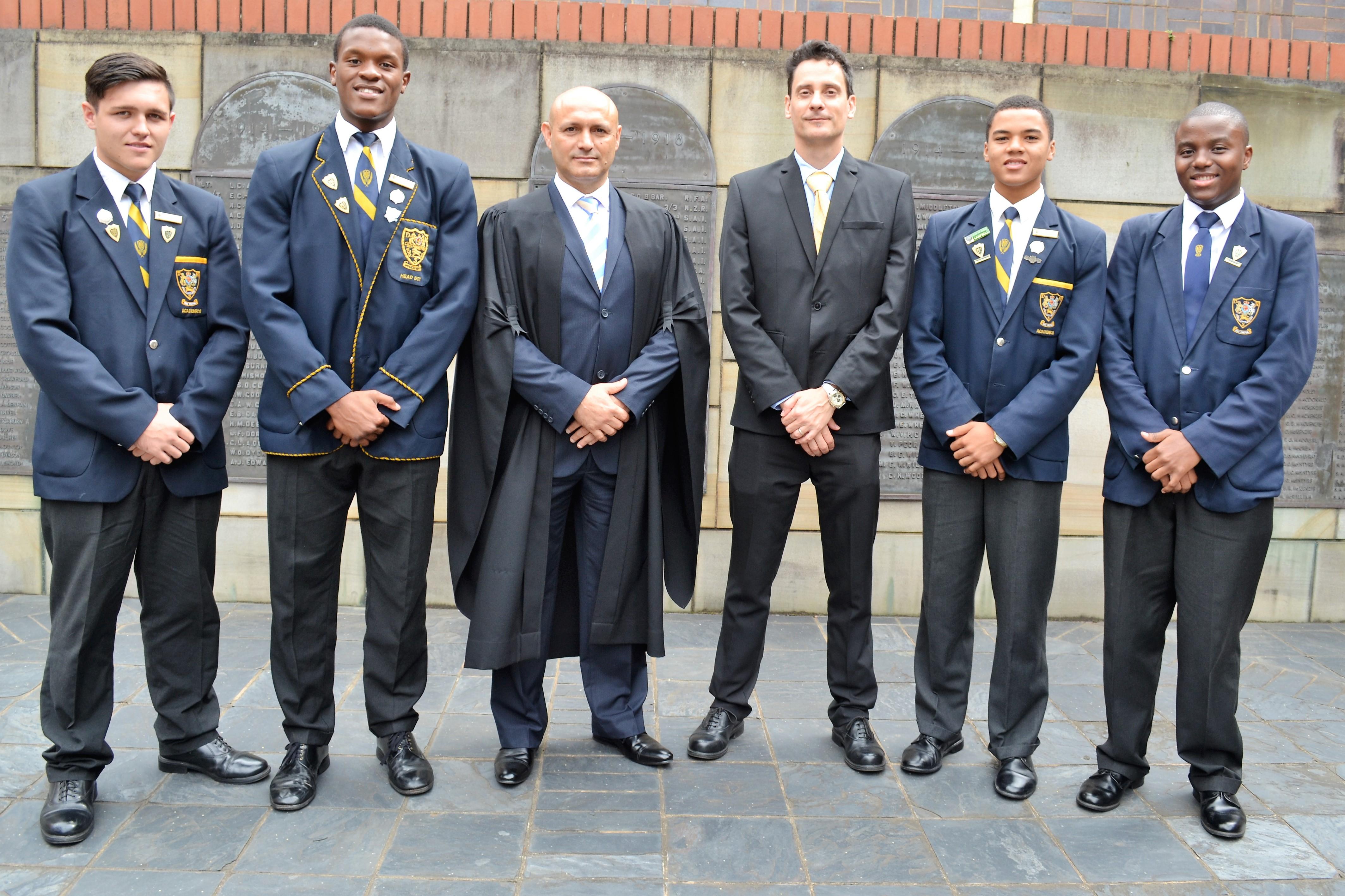 Image: Thomas Kempen, Phendulani Buthelezi, Tony Pinheiro, Winston Owen, Matthew Henley and Samkelo Ntetha