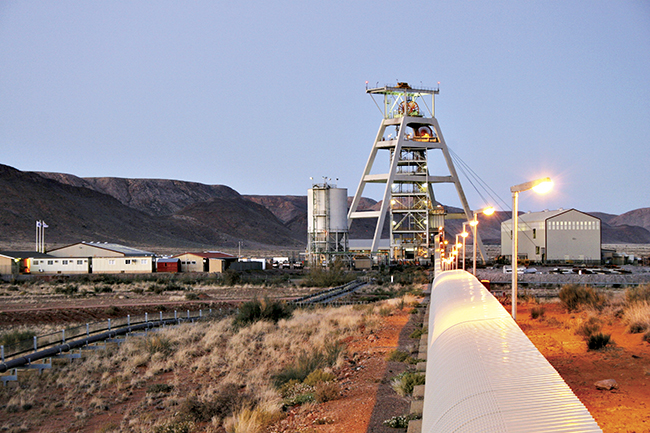 Image: The Deeps Shaft at Black Mountain Mining, in the Northern Cape