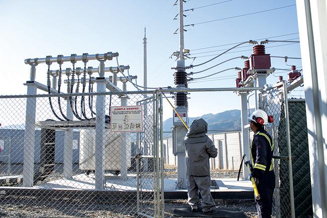 Image: Guatemala 15MW mining power switchyard