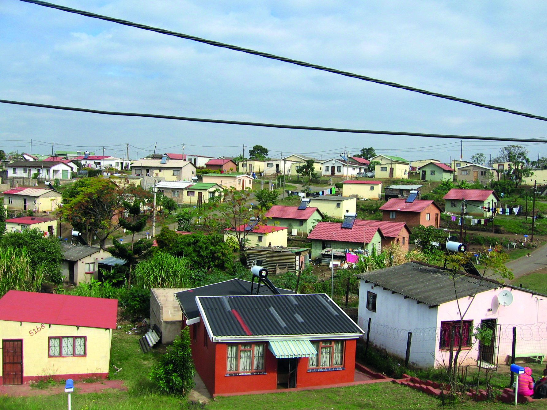 Image: Solar-heated water is made possible through a government initiative in eThekwini Municipality