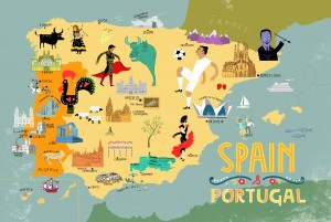 Mapped Spain Portugal - Portugal map spain