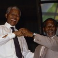 Image: Nelson Mandela dances with Oliver Tambo - © Louise Gubb/CORBIS SABA/Corbis via Getty Images)
