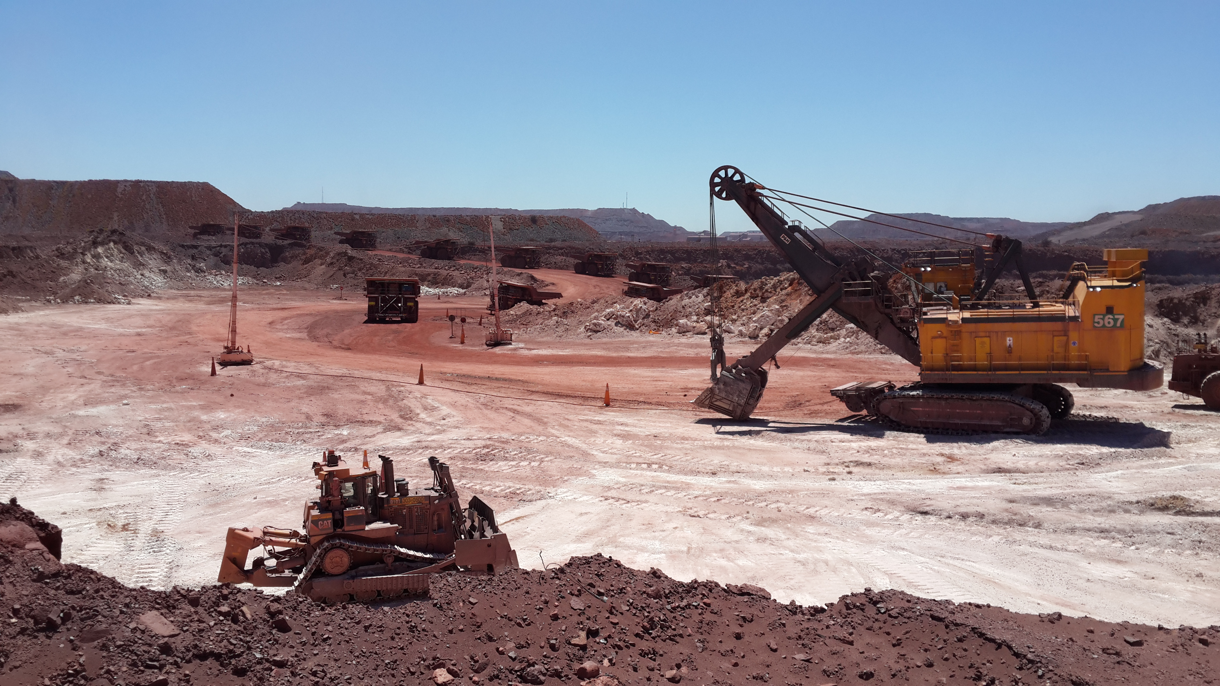 mage: Large open pit iron ore mining operation