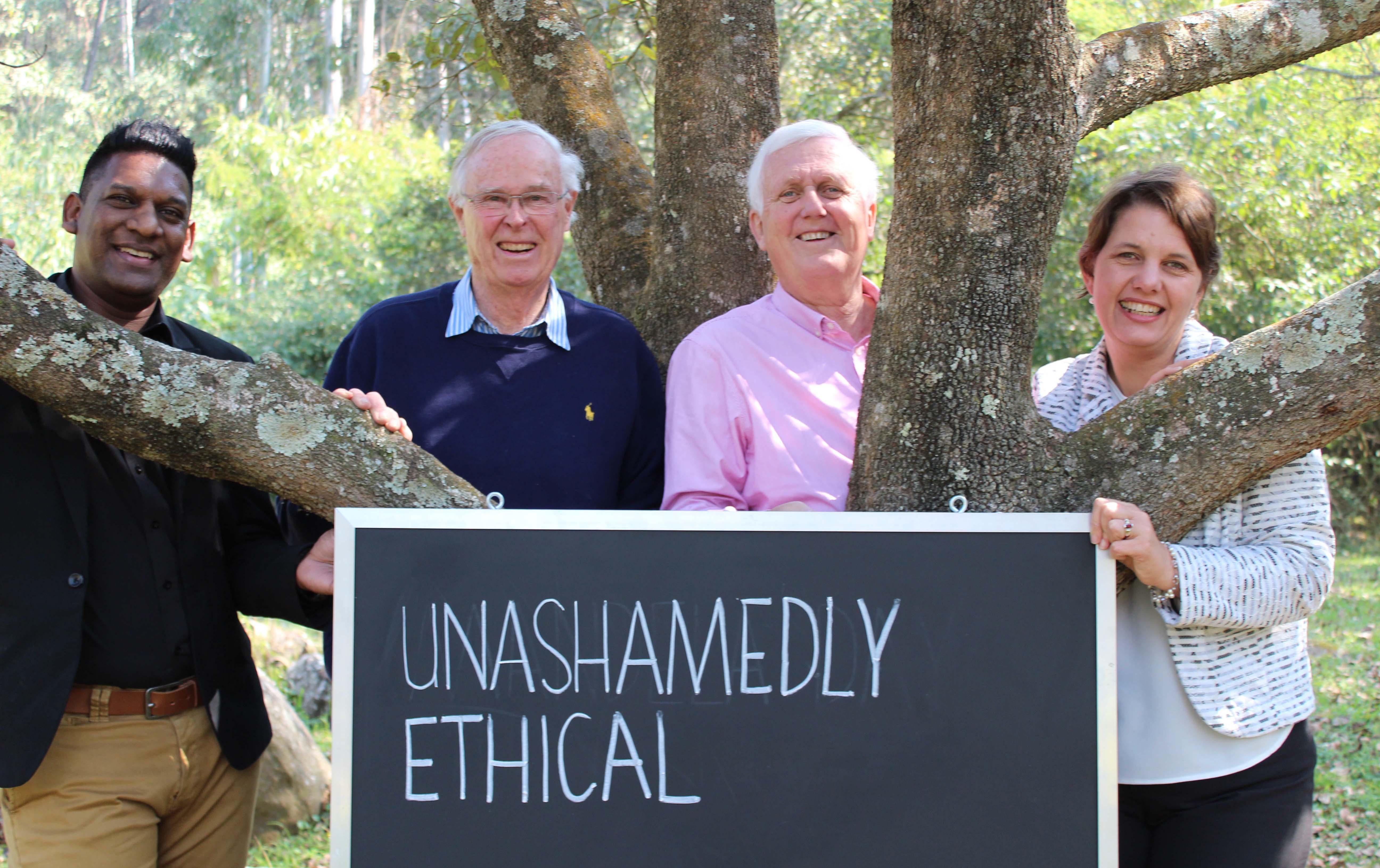 Image: Claude Moodley, Michael Cassidy, Henk Leenstra and Karen Brokensha