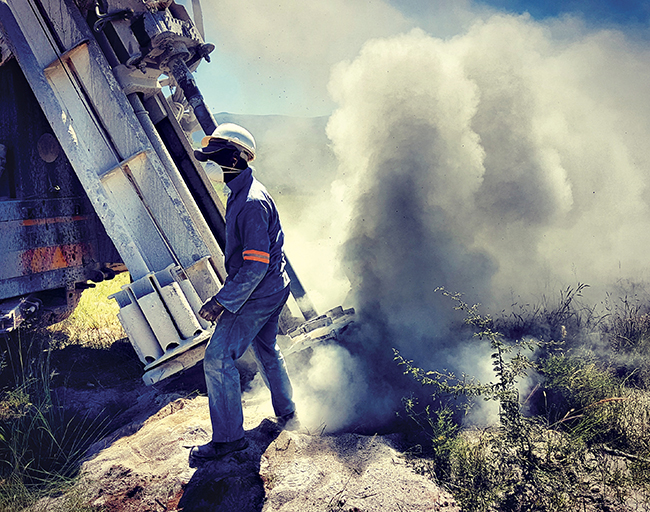 Image: Drilling at the Vutomi project